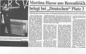 Martina Hasse erfolgreich bei den Dt.Meisterschaften