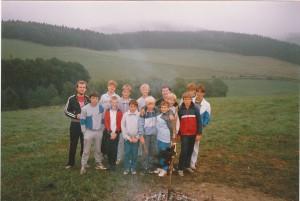 Betreuer und Teilnehmer des Jugendzeltlagers Mönekind