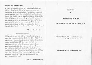 Einladung Sportwoche anlässlich Erweiterungsbau 1974