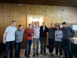 """v.l. das Gewinner Team """"London 2013"""" sowie die Zweitplazierten """" Team Sammy"""""""